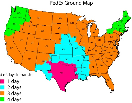 FedEx Transit Map